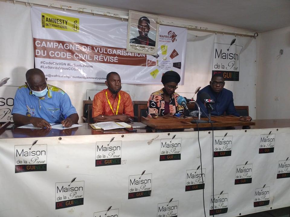 La Guinée actualise son Code civil : Amnesty international et Wafrica lancent une vaste campagne de vulgarisation…