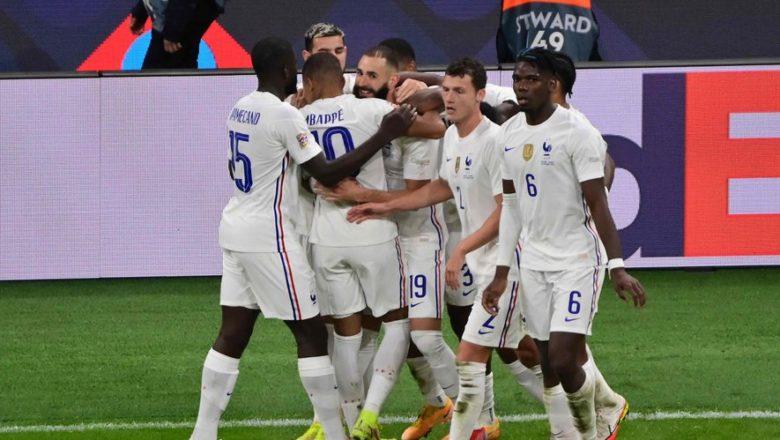 Foot : la France s'impose 2-1 contre l'Espagne après une finale de folie et remporte la Ligue des Nations