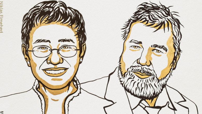 Le journalisme récompensé par le prix Nobel de la paix, selon Reporters sans frontières